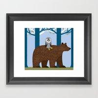 The Owl and The Bear Framed Art Print