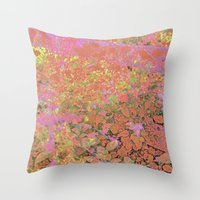 Flower/Fence 2 Throw Pillow