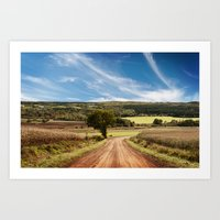 Valley Road Art Print