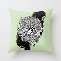 the green man Throw Pillow