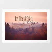 Give Thanks Always - Aut… Art Print
