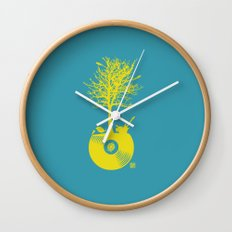 Vinyl Tree Wall Clock