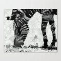 Abstract Zebra Grazing Canvas Print