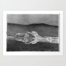Bubbles the Stalking Caimon Art Print