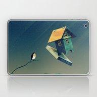 Flying Bird...house Laptop & iPad Skin