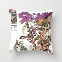 Spawn 9 cover Throw Pillow