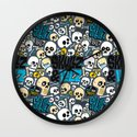Skullz & Lulz Pattern Wall Clock