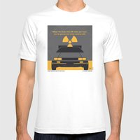No183 My Back to the Future minimal movie poster Mens Fitted Tee White SMALL