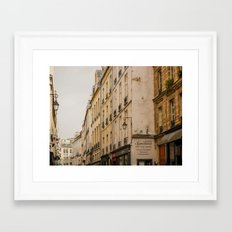 Paris streets I Framed Art Print