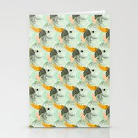 Parrots Print (Coral) Stationery Cards