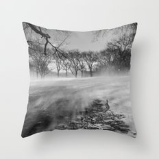 In The Blizzard Throw Pillow
