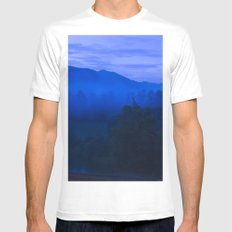 Smoky Mountains SMALL Mens Fitted Tee White