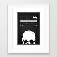 Parenthesis Framed Art Print