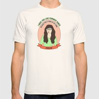 Jessica Day / New Girl Print Mens Fitted Tee Natural SMALL