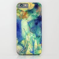 iPhone & iPod Case featuring Fairy with Red Flowers by CrismanArt