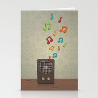 Speak To Me With Music Stationery Cards
