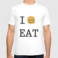 I Eat Mens Fitted Tee White SMALL
