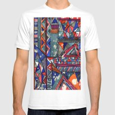 Tribal Texture Mens Fitted Tee SMALL White