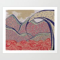 Desert Wave Art Print