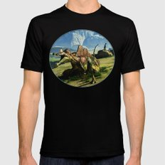 Ichthyovenator Dinosaur Mens Fitted Tee Black SMALL