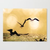 Touch The Golden Heavens Canvas Print