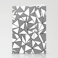 Abstraction Partial Grid Stationery Cards