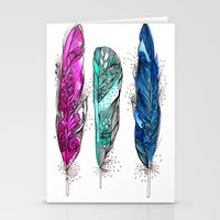 dream feathers 2 Stationery Cards