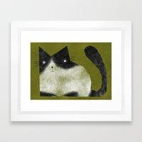 BRISTLE CAT Framed Art Print