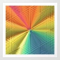 Color Centered Art Print