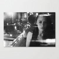 girl in restaurant Canvas Print