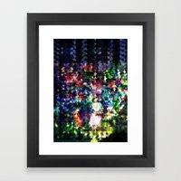 Princess Peach Piranha Plants Glitch Framed Art Print