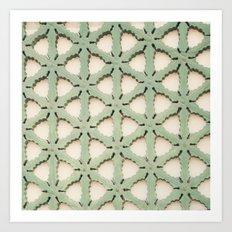 Jade Lattice Art Print