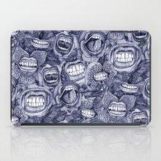 BITE ME roses and orchids INDIGO iPad Case