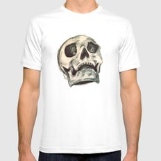 Skulls White Mens Fitted Tee SMALL