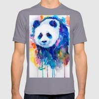PANDA Mens Fitted Tee Slate SMALL