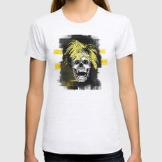 Andy POSTportrait Womens Fitted Tee Ash Grey SMALL