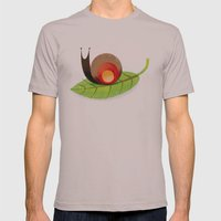 Snail Mens Fitted Tee Cinder SMALL
