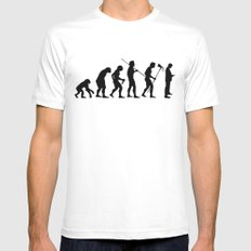 Evolution to Mobile  Mens Fitted Tee SMALL White