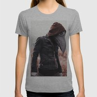 Alternate Plague Womens Fitted Tee Athletic Grey SMALL
