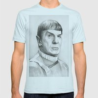 Spock Mens Fitted Tee Light Blue SMALL