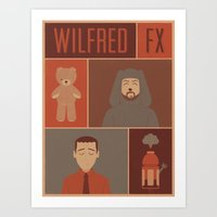 WILFRED FX ILLUSTRATED POSTER Art Print
