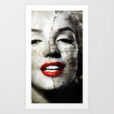 Marilyn Monroe - Wall painting Art Print