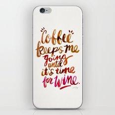 Coffee & Wine – Brown & Magenta Ombré iPhone & iPod Skin