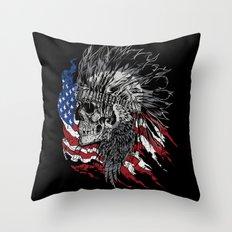 Indian Hunter Throw Pillow