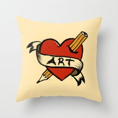 In love with Art Throw Pillow