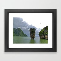 007 Island Framed Art Print