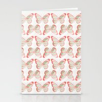 Butterflies three Stationery Cards