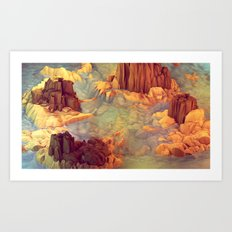 Nonsense Island [Warm Version] Art Print
