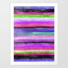 Watercolour Stripe Art Print