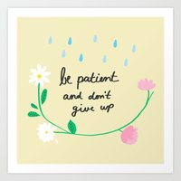 Motivational thoughts Art Print